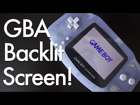 Game Boy Advance Backlit Screen Mod