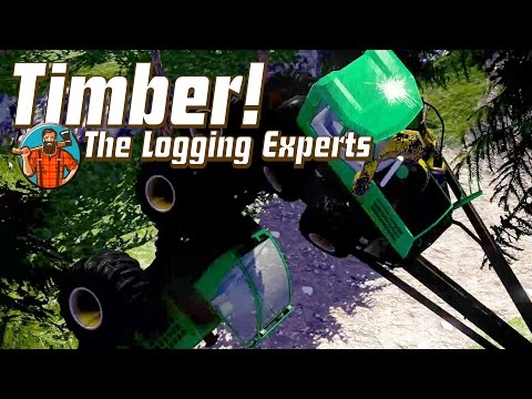FLYING JOHN DEERE TRACTORS Funny Forestry Game Timber! The Logging Experts - Gameplay Highlights Ep1