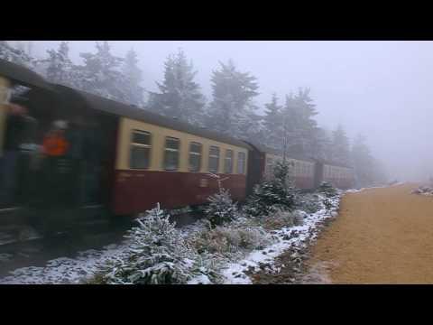 Alte Dampflock - Brocken im Winter (Harzer Schmalspurbahn)