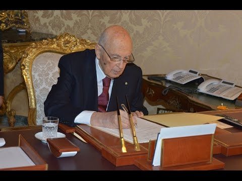 Giorgio Napolitano Firma Dimissioni da Presidente della Repubblica