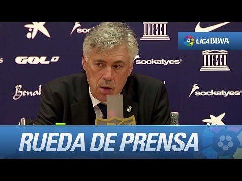Rueda de prensa de Ancelotti: