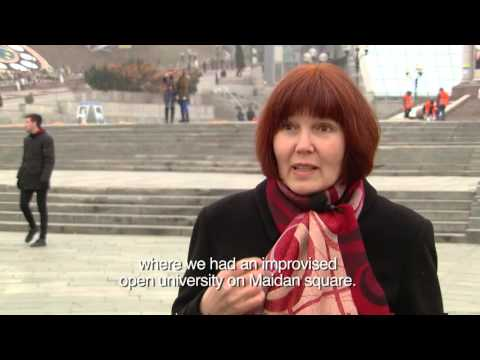 Portraits from Maidan Square - Olga Klymko, Occupation: Economist - Ast Prof Poltava University