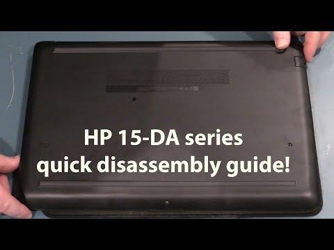 HP 15-DA (15-da0094TU) disassembly take apart for memory, HDD or SSD upgrade