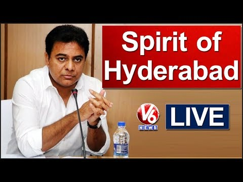 IT Minister KTR LIVE | Spirit of Hyderabad Program | V6 News