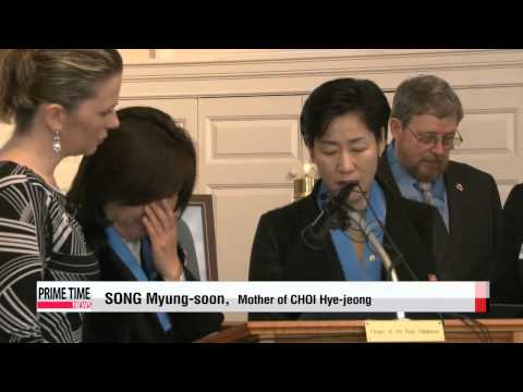 Two heroines honored in U.S. for sacrifices in Sewol-ho tragedy   세월호 참사 영웅들, 미국