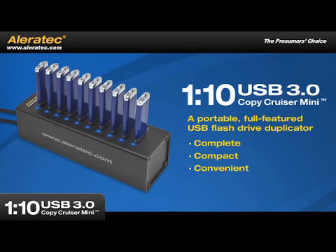 Aleratec 1:10 USB 3.0 Copy Cruiser Mini Flash Drive Duplicator - Part 330113