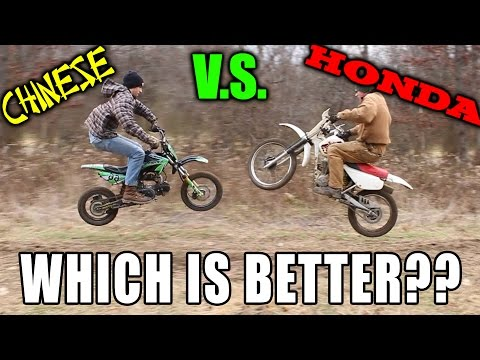 Best Beginner Dirt Bike?? Honda VS Apollo Chinese Pitbike!