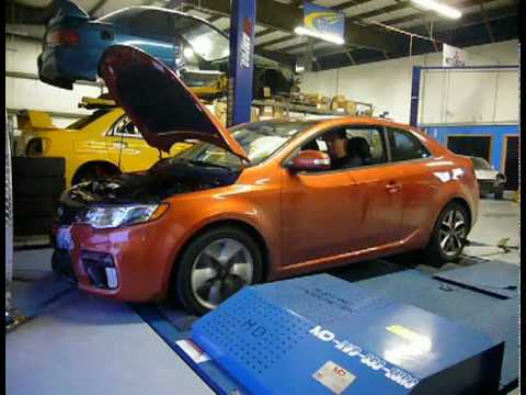TurboKits.com's 2010 Kia Forte Koup CAI, CAT Pipe & Exhaust Development - DYNO Video