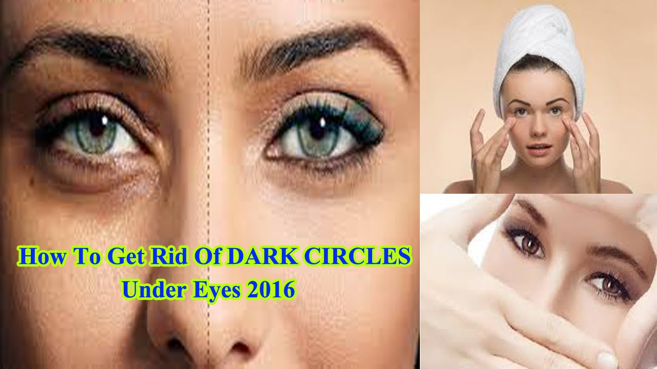 Dark under eyes makeup