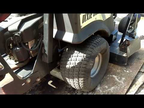 How to fix hydraulic issues on a mower changing the hydrofilter