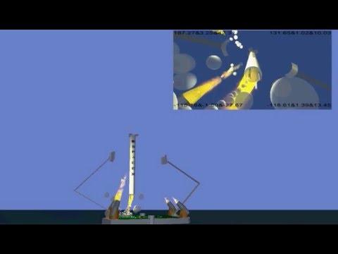 Modify of Falcon9 Landing on drone ship emulation 07