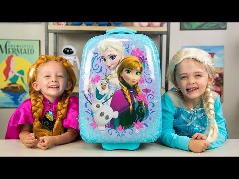 HUGE Frozen Backpack Surprise Toys Disney Princess Elsa Anna Fashems My Little Pony Kinder Playtime