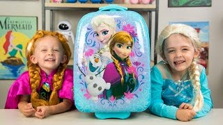 HUGE Frozen Backpack Surprise Toys Disney Princess Elsa Anna Fashems My Little Pony Kinder Playtime