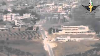 Syria Idlib Mujahideen control the road with large caliber rifle 3 8 2013