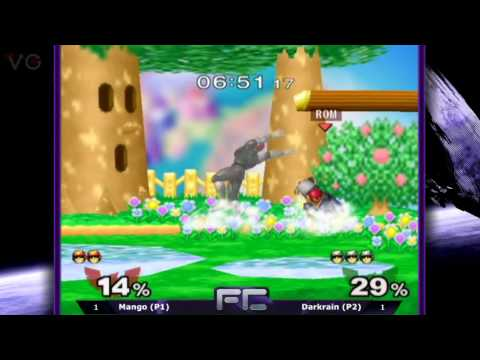 MELEE-FC 10R - Singles Top 8: Mango (Captain Falcon) vs. Darkrain (Falcon) - SSBM