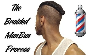The Braided Man Bun, Top knot, Samuari Knot Process