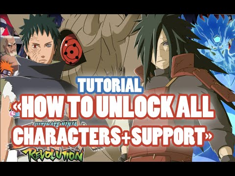 Naruto Shippuden Ultimate Ninja Storm Revolution How To Unlock All Characters + Supports Tutorial