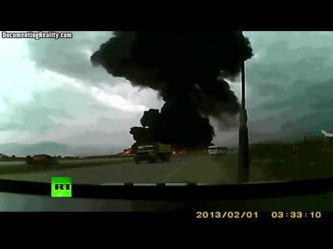 Boeing 747 crash at Bagram Airfield caught on tape. Afghanistan Cargo Aircraft.