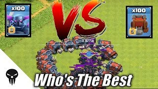 Wall Wrecker vs Pekka | 100 Max Pekka Vs 100 Wall Wreckers infinite war