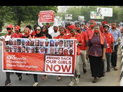 Kidnapped Nigerian schoolgirls remembered one year on