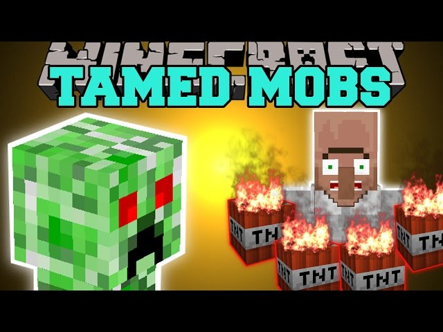 Minecraft: PET MOBS MOD (PET CREEPERS, PET SPIDERS, & PET ZOMBIES!) Mod Showcase
