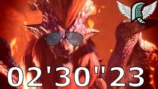 "02'30""23 Teostra Aerial Greatsword - Monster Hunter World"