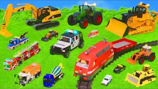 Excavator, Tractor, Fire Truck, Garbage Trucks \u0026 Police Cars Toy Vehicles for Kids