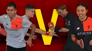 Coutinho & Firmino Vs Klopp & Liu | Year of the Rooster Table Tennis Challenge