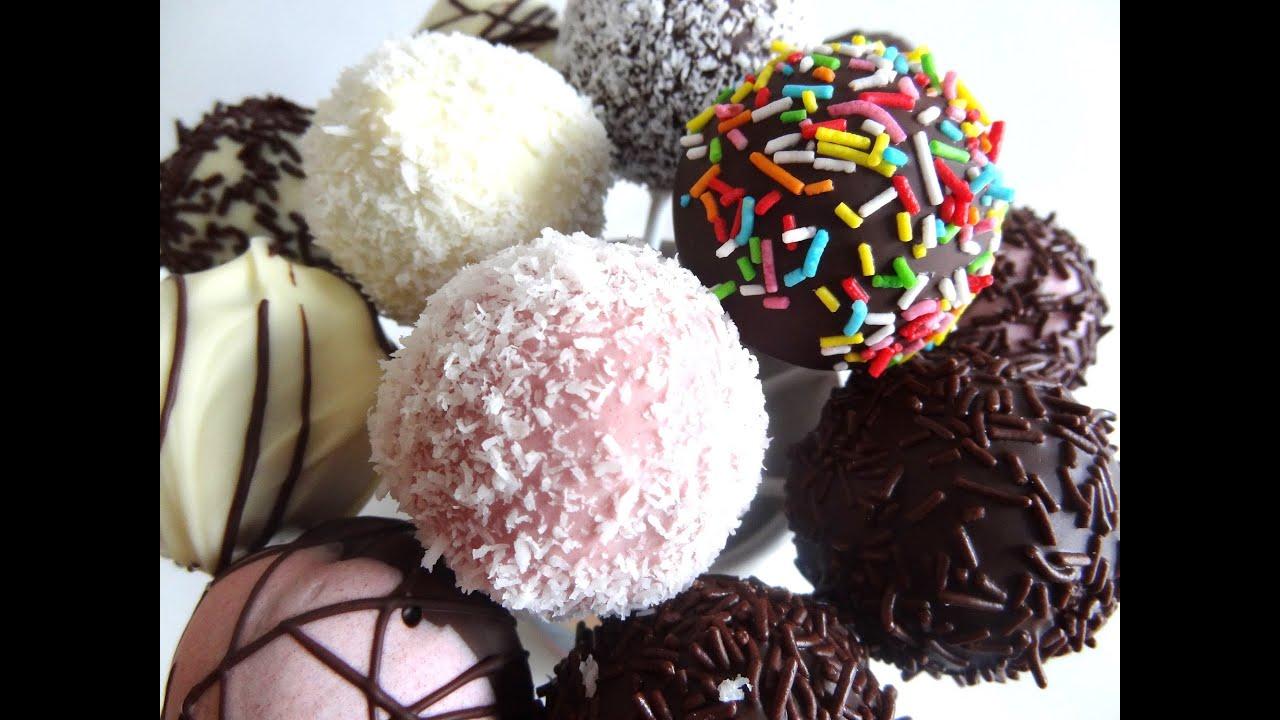 Receta cake pops de chocolate y vainilla con cobertura y for Cake pops cobertura