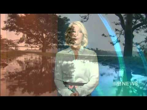 Sydney weather presenter videobombs Melbourne edition of Nine News shows clip from another city.