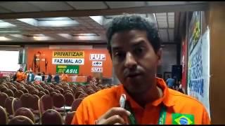 O coordenador do Sindipetro Bahia, fala sobre o XVII CONFUP, encerrado na tarde deste domingo06/08