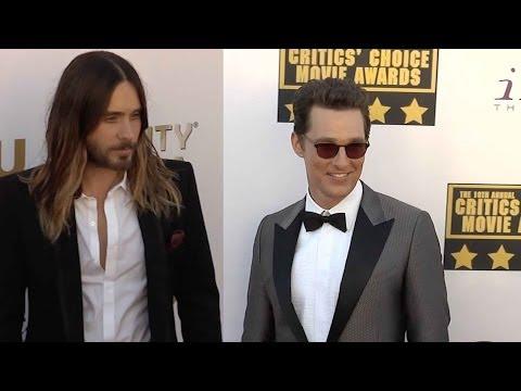 Matthew Mcconaughey And Jared Leto On Critics Choice Awards Red Carpet video