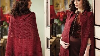 #23 Mesh Cape, Vogue Knitting Crochet 2013 Special Collector