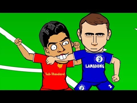 LUIS SUAREZ BITE by 442oons (Suarez Evra Ivanovic football cartoon)