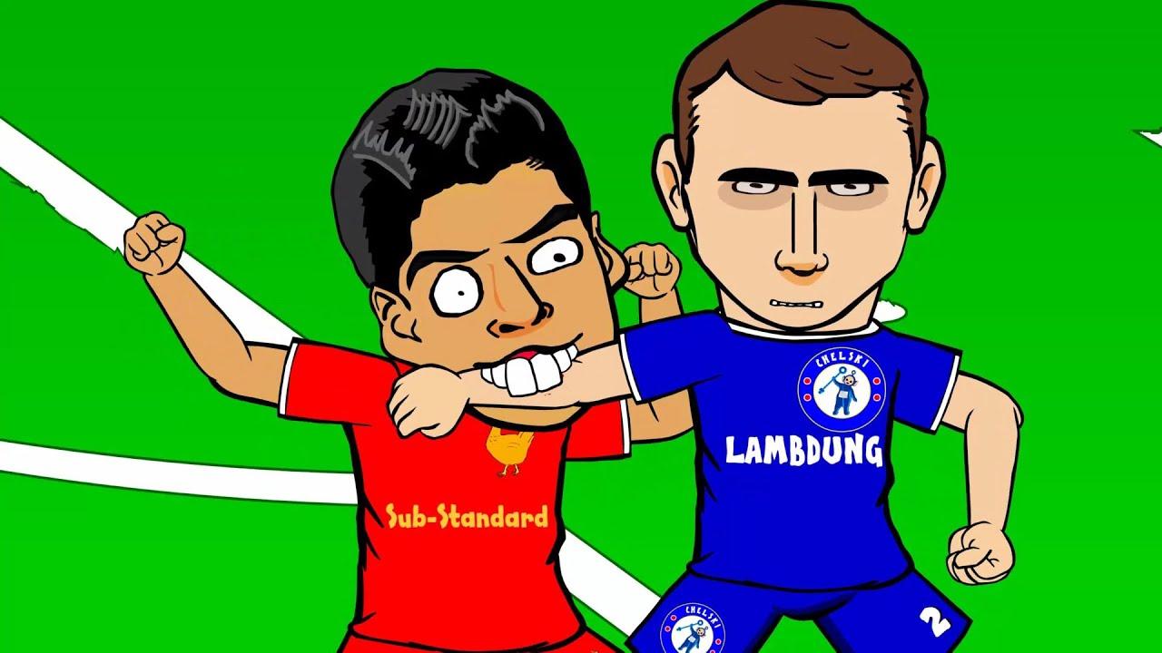 Luis Suarez vs Ivanovic Luis Suarez Bite by 442oons