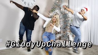 ACE FAMILY GIDDY UP CHALLENGE!!! FEAT. OUR BODY GUARD!!! (VLOGMAS DAY 6)
