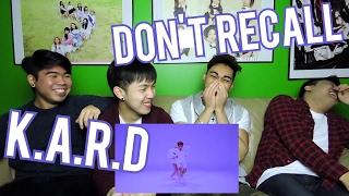 K.A.R.D - DON'T RECALL MV REACTION (FUNNY FANBOYS)