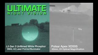 Coyote Hunting with Thermal and White Phosphor Night Vision - Comparison