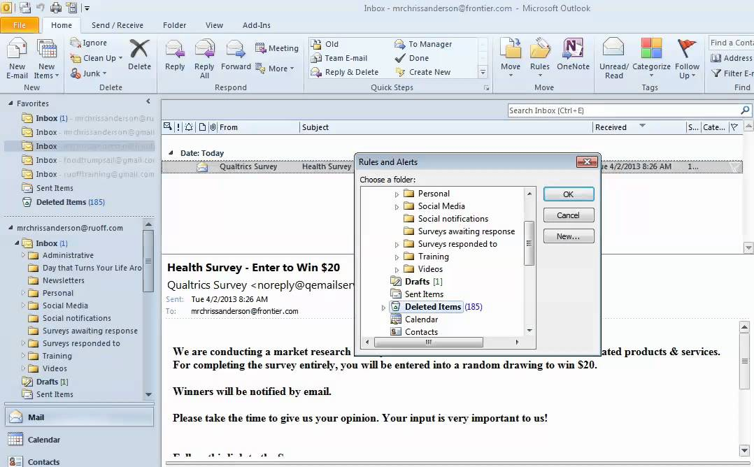 how to delete all junk mail in outlook