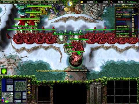 Warcraft 3: Troll and Elves SPEED X4 (Elf Gameplay)