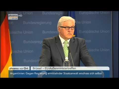 EU-Außenministertreffen: Frank-Walter Steinmeier zur Ukraine-Krise am 20.01.2015