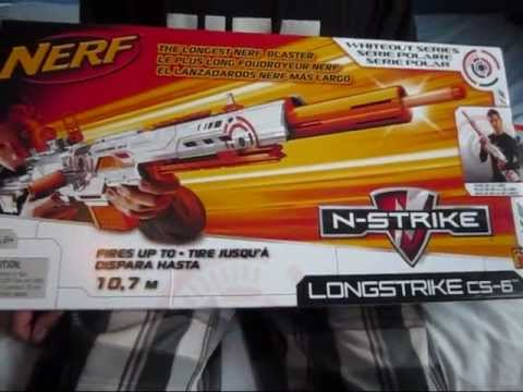 Unboxing and Review of Nerf Whiteout Longstrike