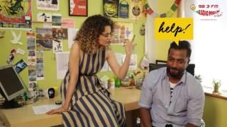 Kangana Ranaut chooses between sex & sleep   Selfie 21 with RJ Suren   Rangoon   Radio Mirchi