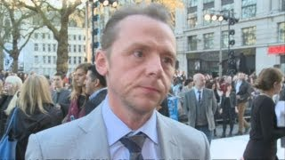 Simon Pegg at Star Trek Into Darkness premiere: He talks aliens, Benedict Cumberbatch and Chris Pine