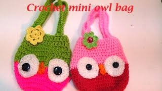 HOW TO MAKE CROCHET OWL  MINI BAG-1