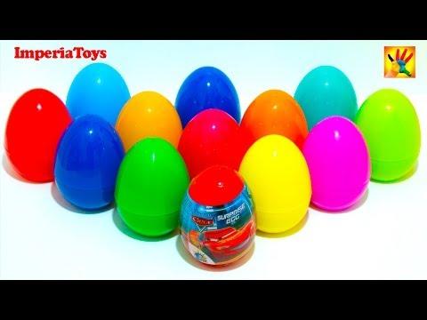 20 Surprise Eggs Kinder Surprise Cars Mickey Minnie Peppa Pig Thomas Spongebob Masha i Medved