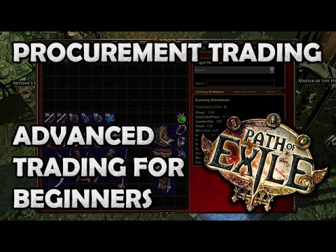 Path of Exile: Advanced Procurement Trading for Beginners! - b/o Tabs, Auto Bump & Auto Updates!