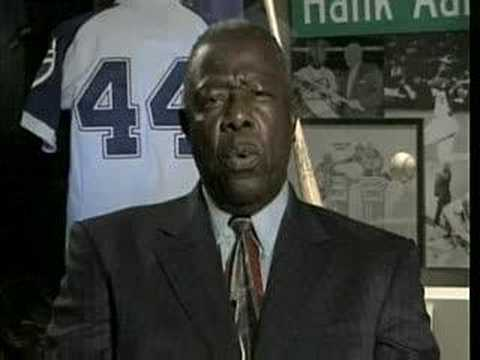 Hank Aaron Message to Barry Bonds Video