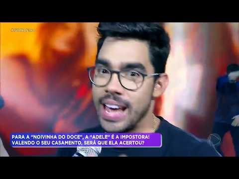 Gabriel Diniz canta O Nome Dela é Jenifer no palco do Hora do Faro