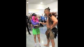 Cardi B receives a Heart Warming Māori Pōwhiri & Haka